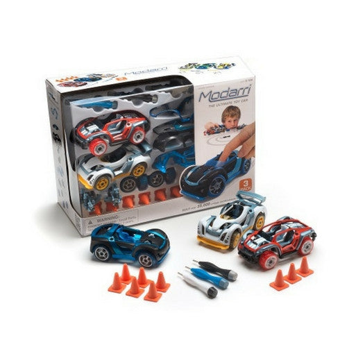ToysTribe - For Rent: Modarri 3 Pack Toy Car Vehicle Set
