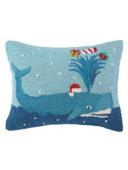 Holiday Whale Pillow