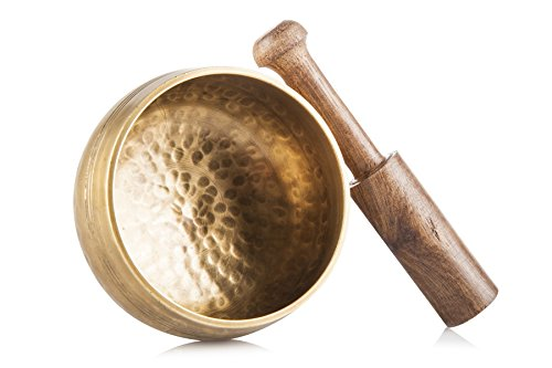 Ohm Store Tibetan Singing Bowl Set - Helpful for Meditation, Yoga & Relaxation: Musical Instruments