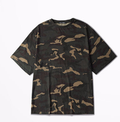 Men Camouflage Oversized Hip-Hop Tee