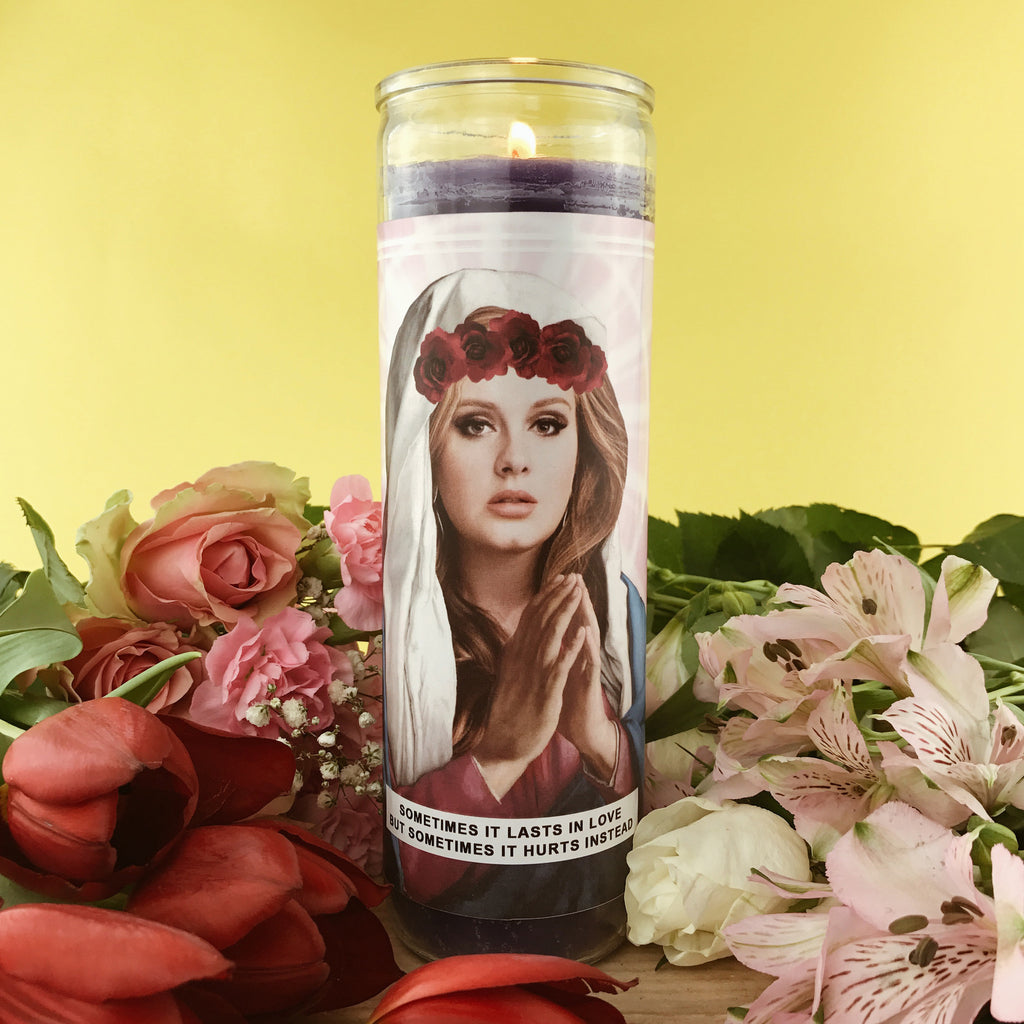 Saint Adele Prayer Candle