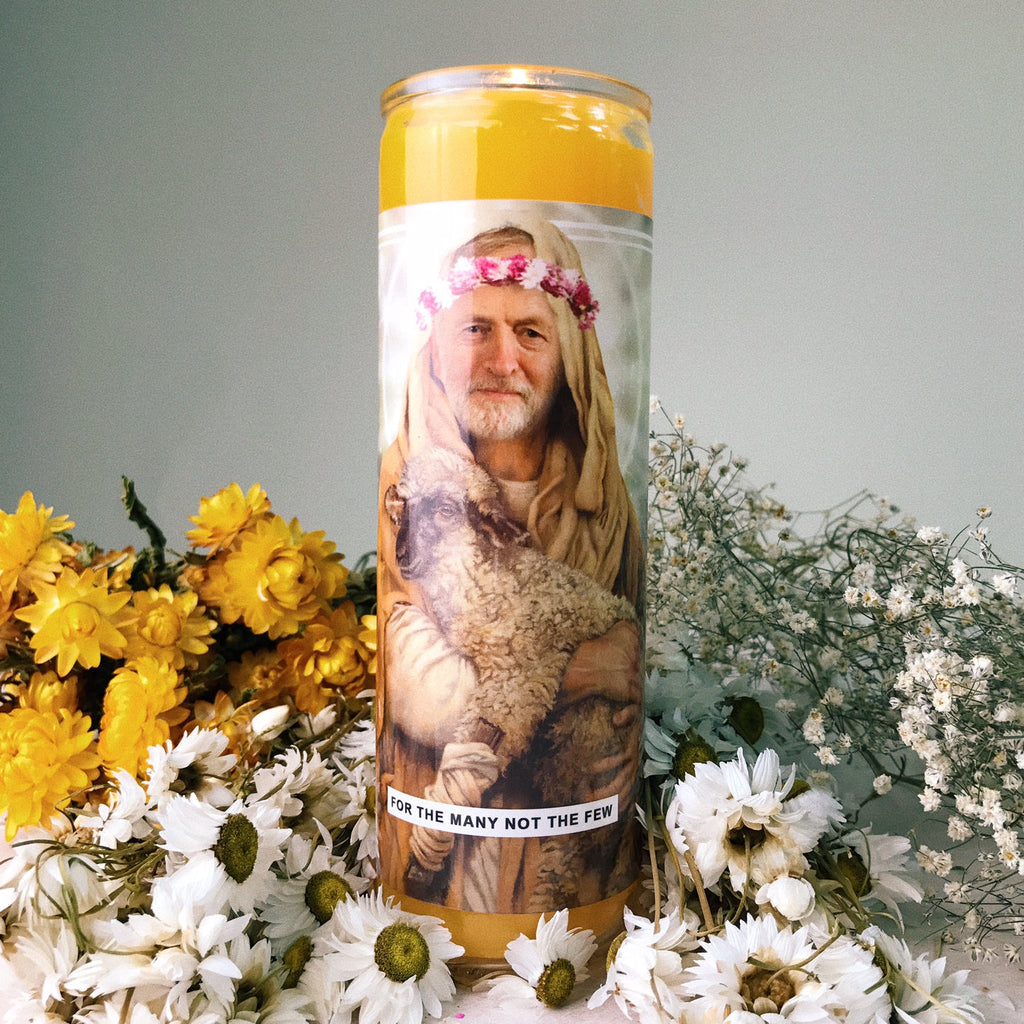Saint Jeremy Corbyn Prayer Candle