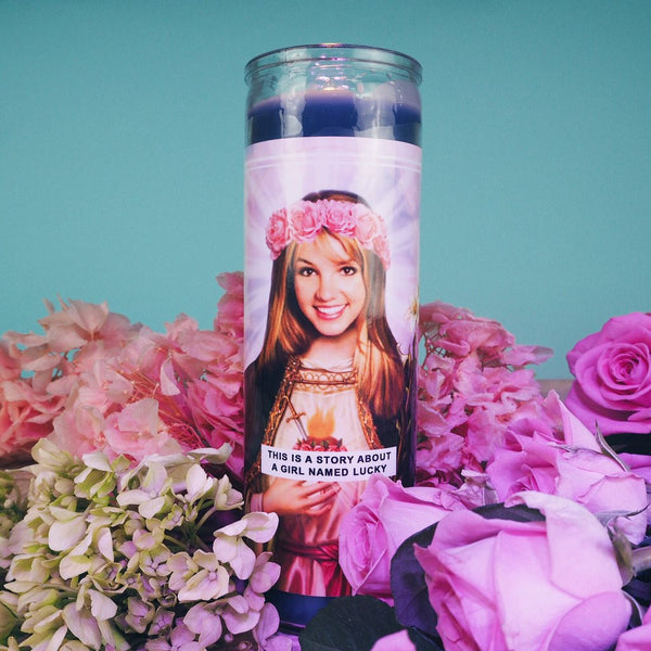 Saint Britney Prayer Candle