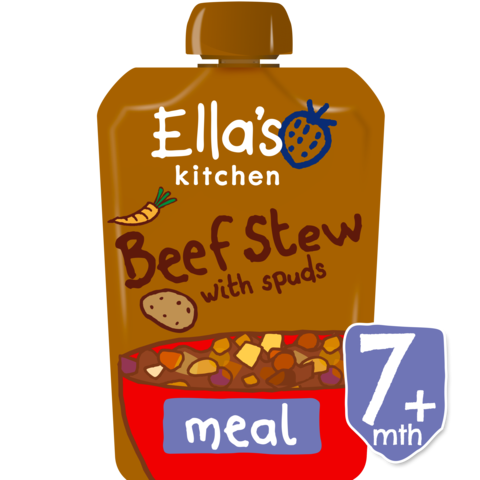 Ella's Kitchen Wonderfully Warming Beef Stews with Spuds Stage 2, 130g (From 7 Months) EXP: January 30, 2020