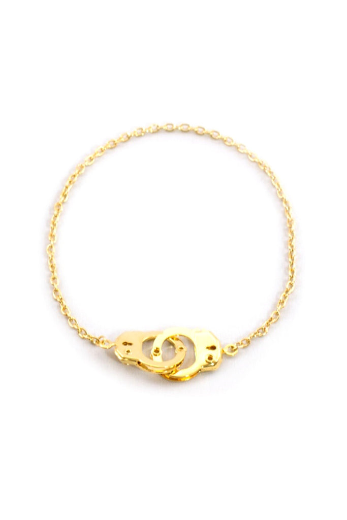 Gold Cuffed Anklet - Sugar NY
