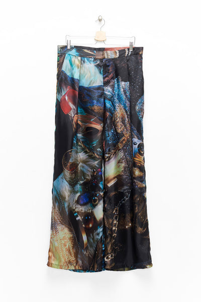 Slade Collection- Velvet Goldmie Inspired Graphic Printed Volume Trouser