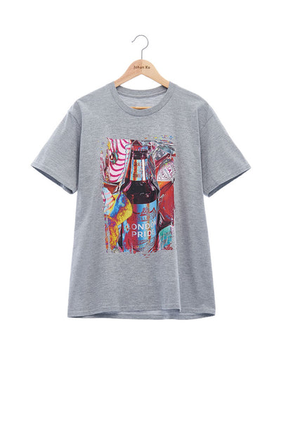 Andy Collection- British Supermarket Inspired Graphic T-Shirt - Wine(Gray)