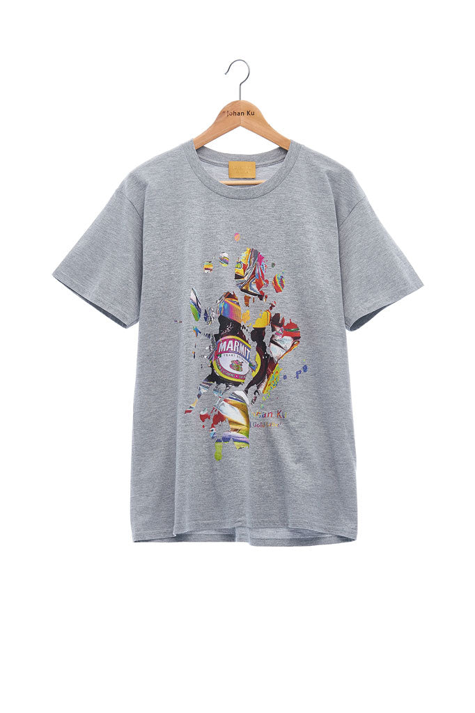 Andy Collection- British Supermarket Inspired Graphic T-Shirt - Marmite(Gray)