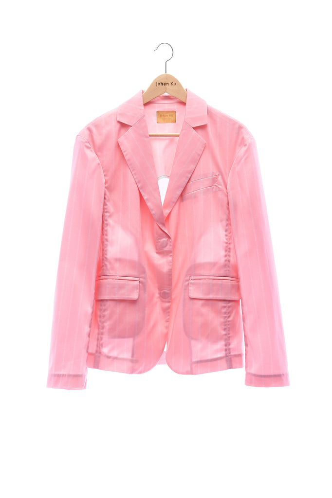 "Elioliver Collection- ""Elioliver"" Wording Graphic Jacket -Pink"