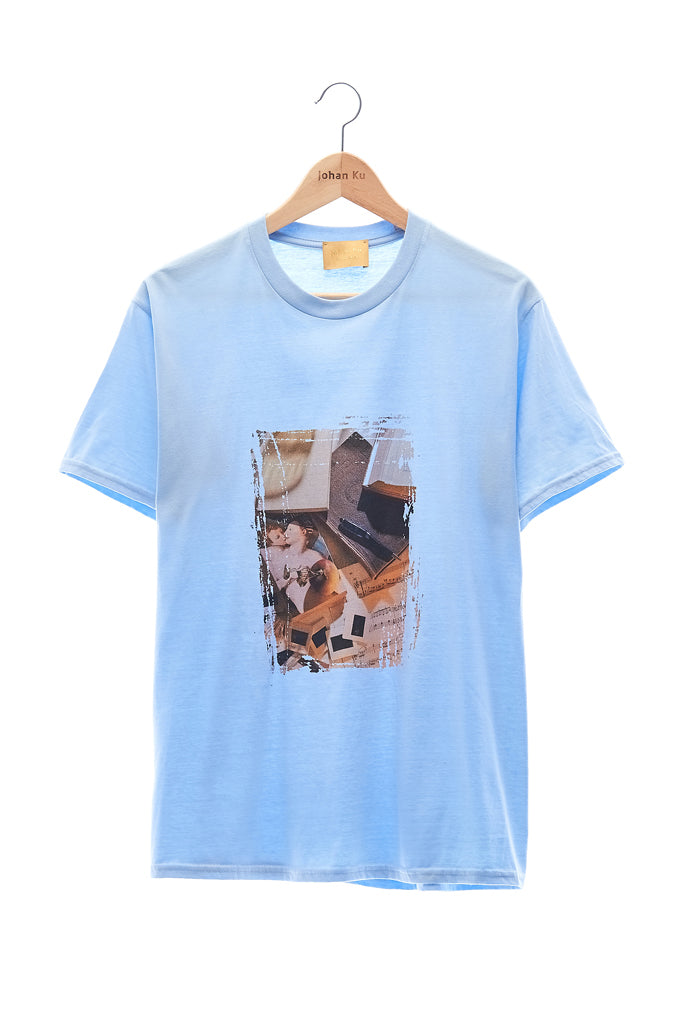 Elioliver Collection- Call Me by Your Name Image Graphic T-Shirt - Light Blue