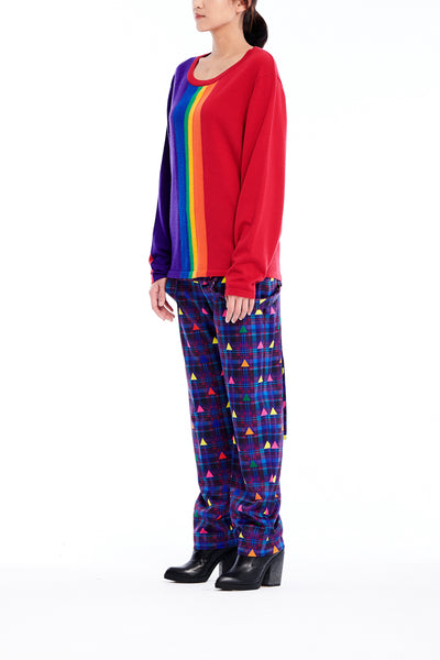 Sean Collection- Rainbow Image Intarsia Fine Knit Knitwear
