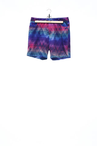 Sean Collection- Rainbow Colour Triangle Print Shorts