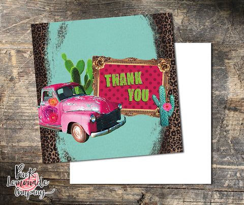 Cactus Flower Marketing Cards