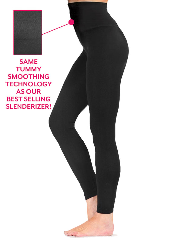 Tummy Smoothing Matte Micro Rib Legging