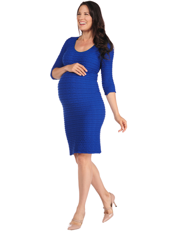 Scoop Neck Crinkle Dress (The Miracle Dress!)-Maternity