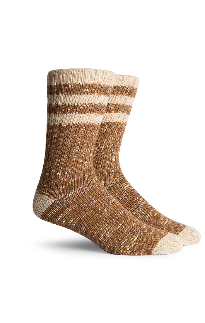 Sticher Crew Socks- Brown