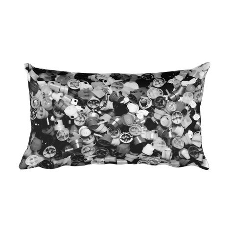 20x12 inch B&W CAP PILLOW