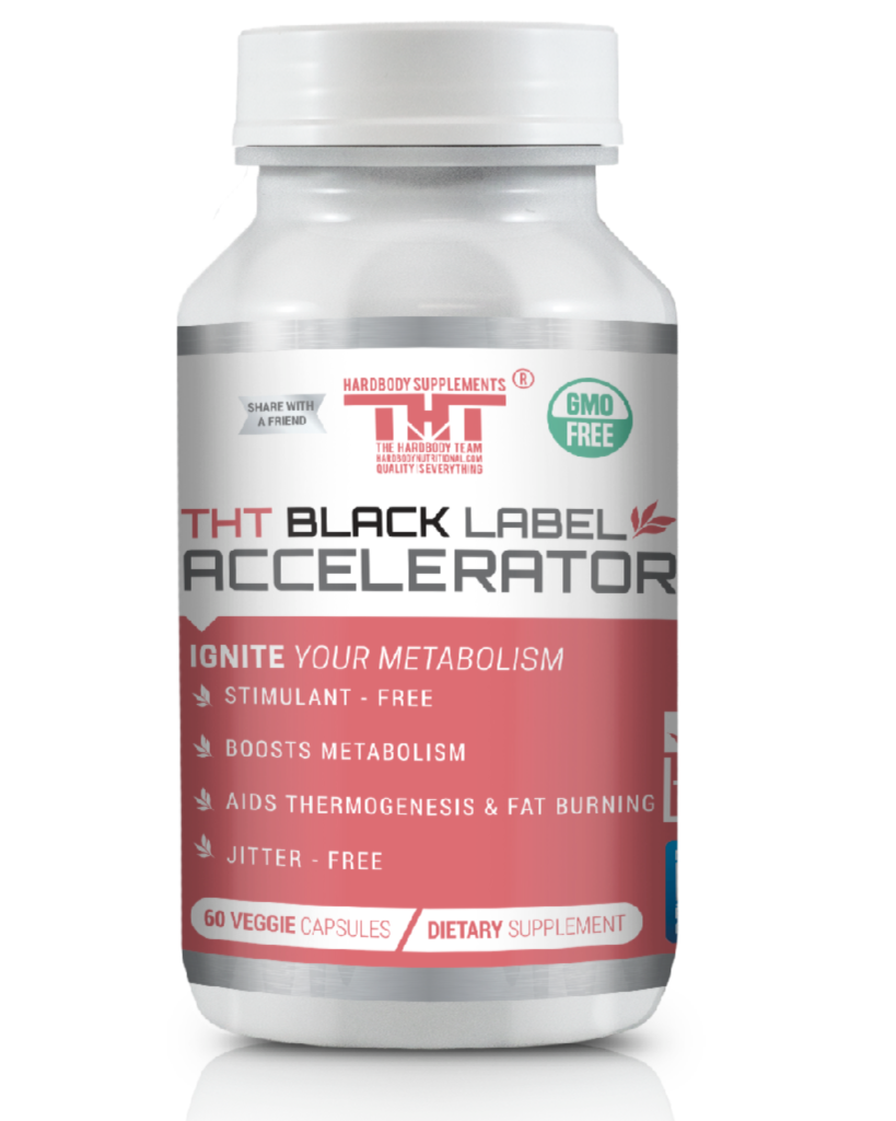Black Label Accelerator | Designed for Toning and Slimming | Stimulant Free Diet Pill for Men and Women