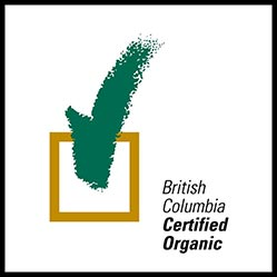 We are British Columbia Certified Organic