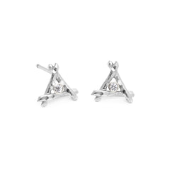 Center Diamond Tiny Trina Stud Earrings