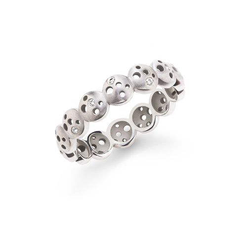Moon & Stars All Oculus Coin Eternity Band