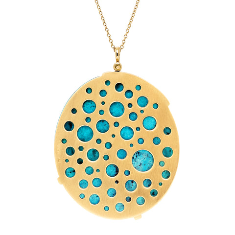 Hats Off to the King Galaxy Turquoise Pendant