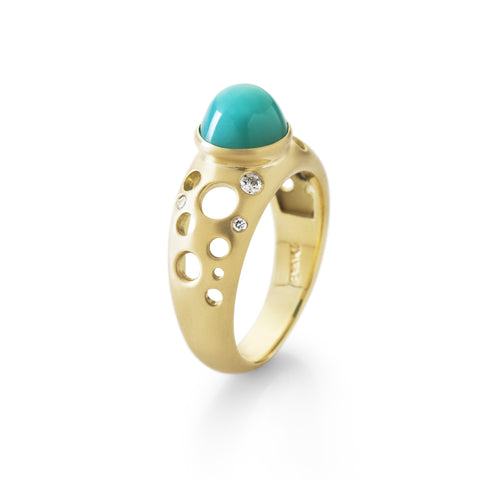 High Chrysocolla Solitaire Ring