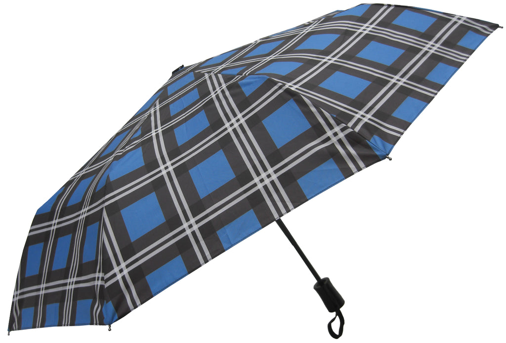 Ramsay Blue Tartan Umbrella - Chantam - Beautifully designed Tartan and Harris Tweed handbags and accessories
