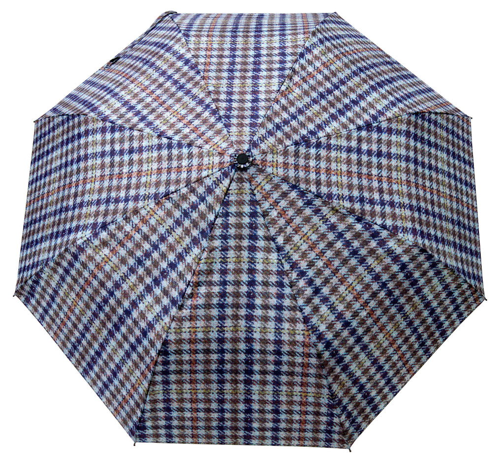ST Small Check Print Beige Umbrella with pongee fabric - Chantam - Beautifully designed Tartan and Harris Tweed handbags and accessories