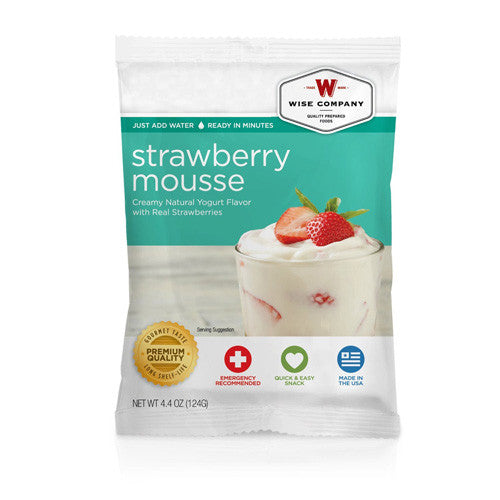 Wise Foods Strawberry Mousse  (4 srv)