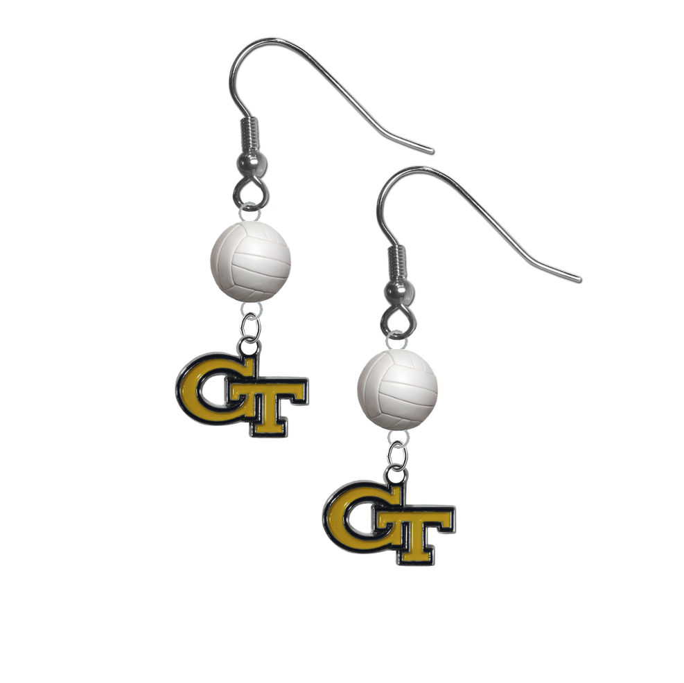 Copy of Georgia Tech Yellow Jackets NCAA Volleyball Dangle Earrings