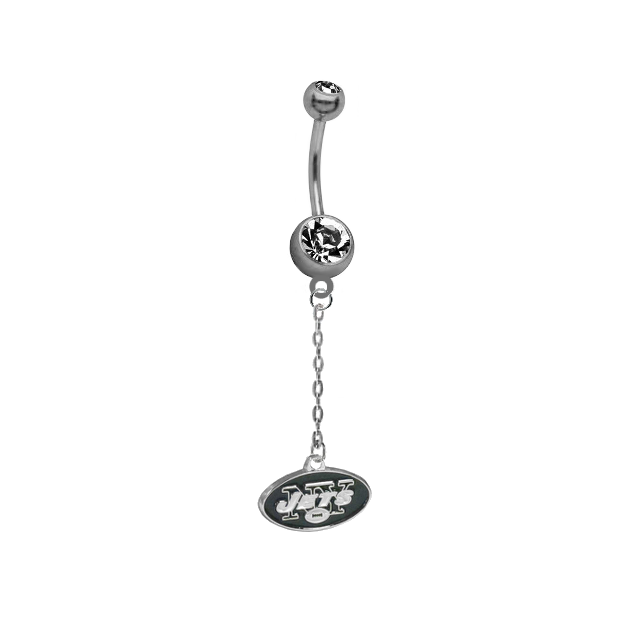 New York Jets Chain NFL Football Belly Button Navel Ring