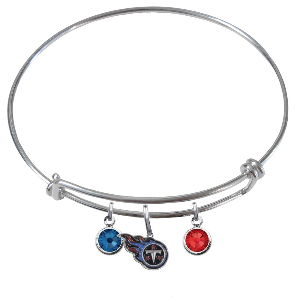 Tennessee Titans NFL Expandable Wire Bangle Charm Bracelet