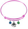 Vancouver Canucks Color Edition PINK Expandable Wire Bangle Charm Bracelet