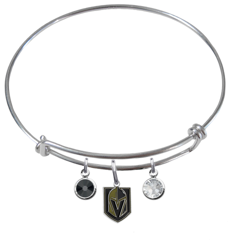 Vegas Golden Knights NHL Expandable Wire Bangle Charm Bracelet
