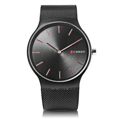 Curren 8256 Men's Quartz Stainless Steel Dress Wristwatch - ClickWear