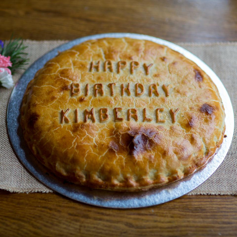 Personalised Pie - Available for Delivery