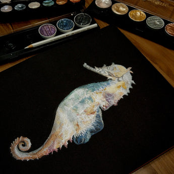 Metallic Watercolour Seahorse Workshop - artjamming, Boulevart - Boulevart