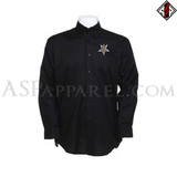 Anton LaVey Sigil Deluxe Long Sleeved Shirt-satanic-clothing-heathen-merchandise-by-ASP Culture