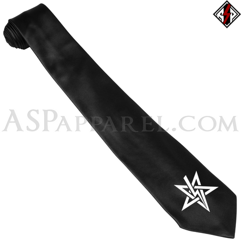 Anton LaVey Sigil Satin Tie-satanic-clothing-heathen-merchandise-by-ASP Culture