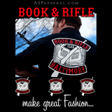 Book and Rifle Club Long Sleeved T-Shirt-satanic-clothing-heathen-merchandise-by-ASP Culture