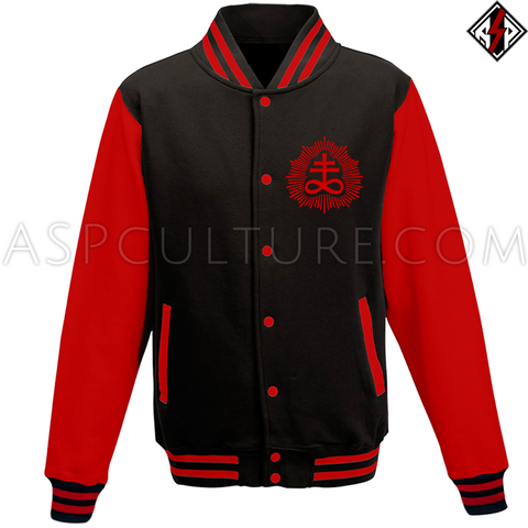 Brimstone Sigil Varsity Jacket-satanic-clothing-heathen-merchandise-by-ASP Culture