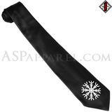 Helm of Awe (Aegishjalmur) Satin Tie-satanic-clothing-heathen-merchandise-by-ASP Culture
