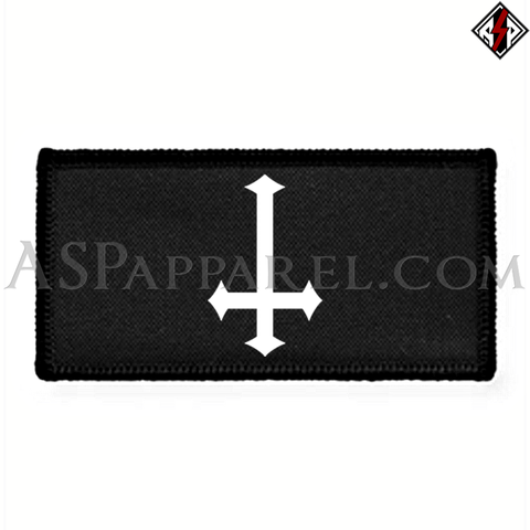 Inverted Cross Rectangular Patch-satanic-clothing-heathen-merchandise-by-ASP Culture