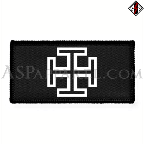 Kruckenkreuz (Cross Potent) Rectangular Patch-satanic-clothing-heathen-merchandise-by-ASP Culture