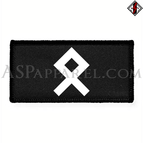 Odal Rune Rectangular Patch-satanic-clothing-heathen-merchandise-by-ASP Culture