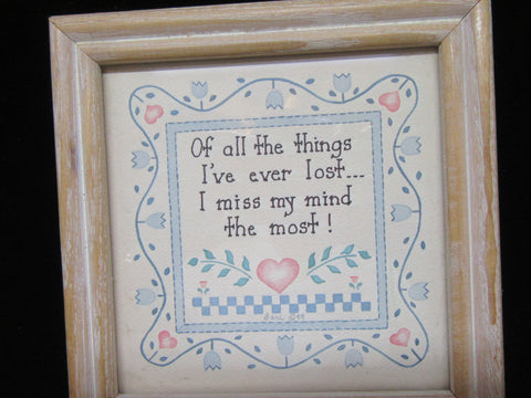 Framed Print Losing Your Mind Vintage Positive Saying - JAMsCraftCloset
