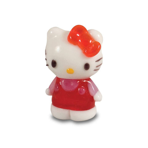 Hello Kitty - Red Dress, Pink Shirt, Standing (in Tynies Collector's Frame) Miniature glass figurines