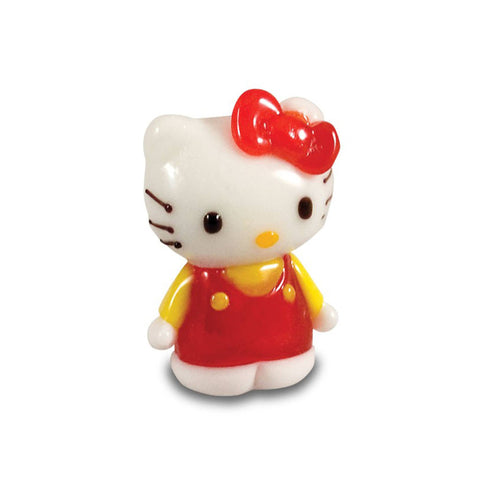 Hello Kitty - Red Dress, Yellow Shirt, Standing (in Tynies Collector's Frame) Miniature glass figurines