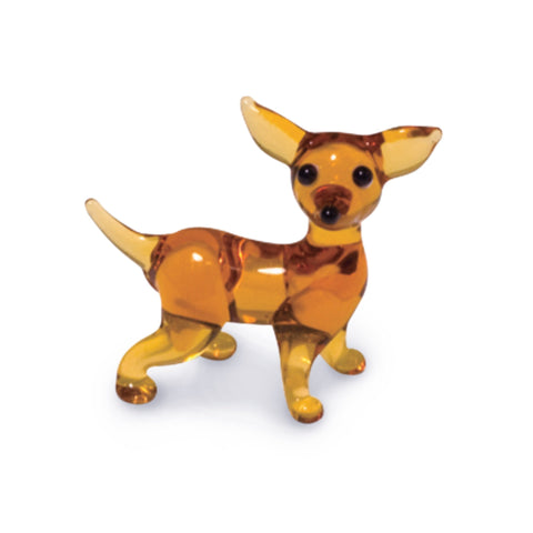 Kid the Chihuahua (in Tynies Collector's Frame) Miniature glass figurines